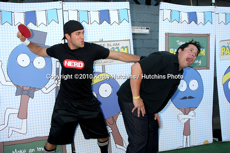 LOS ANGELES - SEP 26:  Zachary Levi & Greg Grunberg arrives at the Ultimate Slam Paddle Jam 2010 at Music Box Theater on September 26, 2010 in Los Angeles, CA