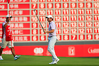 Rory McIlroy (NIR) on the 18th during the 3rd round of the WGC HSBC Champions, Sheshan Golf Club, Shanghai, China. 02/11/2019.<br /> Picture Fran Caffrey / Golffile.ie<br /> <br /> All photo usage must carry mandatory copyright credit (© Golffile | Fran Caffrey)