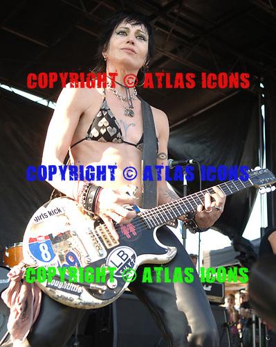 Joan Jett; 2006 Warped Tour;<br /> Photo Credit: Eddie Malluk/AtlasIcons.com