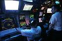 SNA Saphir,<br /> Sous-marin nucl&eacute;aire d'attaque.<br /> Zone sonars,<br /> &quot;Oreilles d'or&quot;