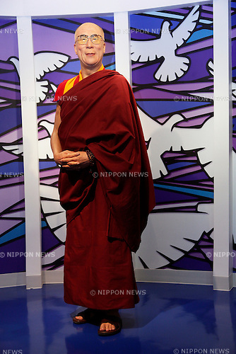 March 13, 2013, Tokyo, Japan - The wax figure of The 14th Dalai Lama is displayed during a media briefing for the opening of the Madame Tussauds Tokyo wax museum in Odaiba, Tokyo, March 13 , 2013. .The Madame Tussauds Tokyo, which is the 14th permanent branch of the world famous British wax museum, will open to public on March 15, 2013. As well as international celebrities and royalty the Japanese museum also features local soccer star Kazuyoshi Miura..
