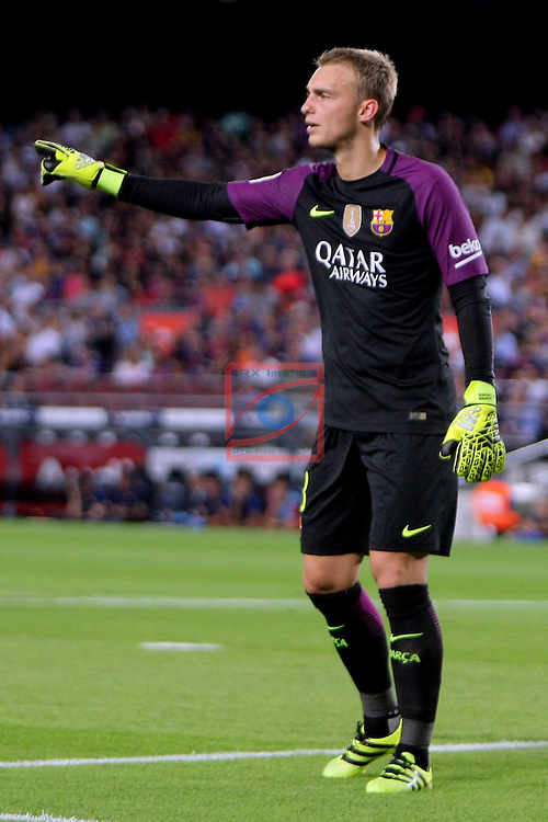 League Santander 2016/2017. Game: 3.<br /> FC Barcelona vs Deportivo Alaves: 1-2.<br /> Cillessen.