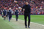 Manager of Sunderland, Gus Poyet gives the thumbs up - Manchester United vs. Sunderland - Barclay's Premier League - Old Trafford - Manchester - 28/02/2015 Pic Philip Oldham/Sportimage