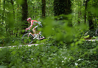 Kenny De Haes (BEL/Lotto-Soudal) in the woods<br /> <br /> Belgian Championships 2015