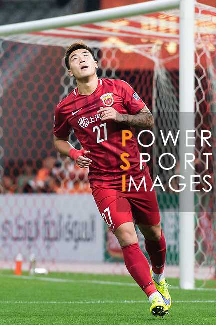 Shanghai FC Defender Shi Ke in action during the AFC Champions League 2017 Round of 16 match between Shanghai SIPG FC (CHN) vs Jiangsu FC (CHN) at the Shanghai Stadium on 24 May 2017 in Shanghai, China. Photo by Marcio Rodrigo Machado / Power Sport Images