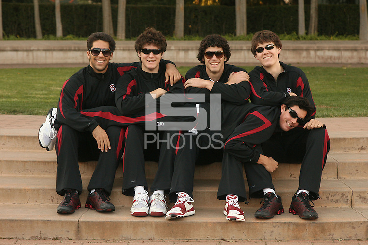 30 November 2007: Jason Palacios, Ed Howell, Kawika Shoji, Evan Romero, and Garrett Werner on picture day in Stanford, CA.