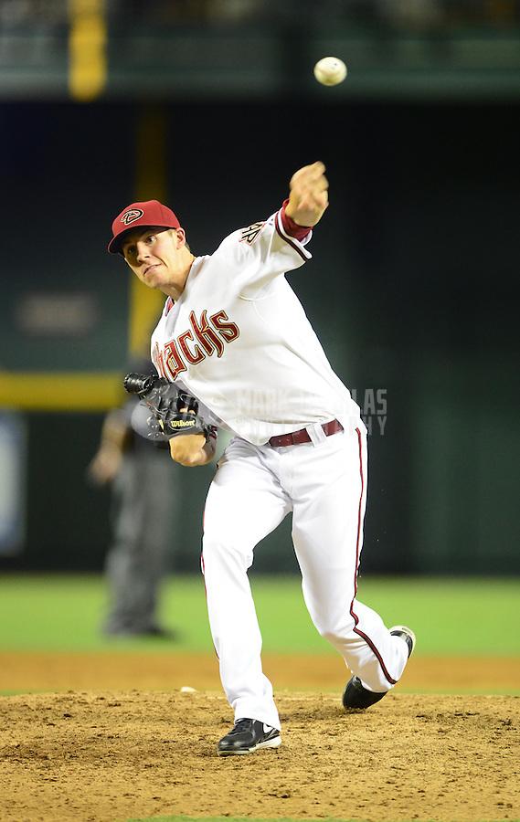 Jul. 3, 2012; Phoenix, AZ, USA: Arizona Diamondbacks pitcher Patrick Corbin against the San Diego Padres at Chase Field. Mandatory Credit: Mark J. Rebilas-