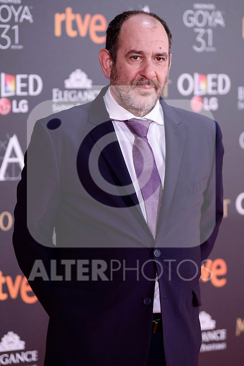 Karra Elejalde attends to the Red Carpet of the Goya Awards 2017 at Madrid Marriott Auditorium Hotel in Madrid, Spain. February 04, 2017. (ALTERPHOTOS/BorjaB.Hojas)