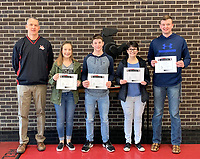 Photo Submitted<br /> MCHS Students chosen for the week of Jan. 28 through Feb. 1 are pictured with their assistant principal, Mr. Wilkie (left); freshmen Kirklyn Kasischke; sophomore Jordan Meador; junior Rylie Hackett and senior Charles Moore.