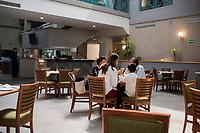 Restaurant. Hotel Casa Grande, Delicias, Chihuahua, Mexico