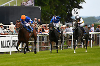 Winner of The Bathwick Tyres Maiden Stakes,La Rav ridden by Jamie Spencer and trained by Luca Cumani during Afternoon Racing at Salisbury Racecourse on 13th June 2017