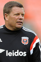 Washington, D.C.- March 29, 2014. Chad Ashton D.C. United Assistant Coach.  D.C. United defeated the New England Revolution 2-0 during a Major League Soccer Match for the 2014 season at RFK Stadium.