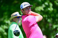 Jon Rahm (ESP) watches his tee shot on 2 during round 2 of the Shell Houston Open, Golf Club of Houston, Houston, Texas, USA. 3/31/2017.<br /> Picture: Golffile | Ken Murray<br /> <br /> <br /> All photo usage must carry mandatory copyright credit (&copy; Golffile | Ken Murray)