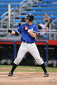 July 14th, 2007:  Joe Mahoney of the Aberdeen Ironbirds, Class-A Short-Season affiliate of the Baltimore Orioles, at bat during a game vs the Jamestown Jammers in New York-Penn League action.  Photo Copyright Mike Janes Photography 2007.