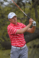 Jordan Spieth (USA) watches his tee shot on 10 during day 3 of the World Golf Championships, Dell Match Play, Austin Country Club, Austin, Texas. 3/23/2018.<br /> Picture: Golffile | Ken Murray<br /> <br /> <br /> All photo usage must carry mandatory copyright credit (&copy; Golffile | Ken Murray)