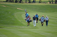 Martin Kaymer (GER) and Jim Herman (USA) make their way down 15 during day 2 of the Valero Texas Open, at the TPC San Antonio Oaks Course, San Antonio, Texas, USA. 4/5/2019.<br /> Picture: Golffile | Ken Murray<br /> <br /> <br /> All photo usage must carry mandatory copyright credit (© Golffile | Ken Murray)
