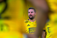 Dane Cole talks to the Hurricanes after the Super Rugby match between the Hurricanes and Sharks at Sky Stadium in Wellington, New Zealand on Saturday, 15 February 2020. Photo: Dave Lintott / lintottphoto.co.nz