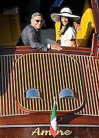 George Clooney & Amal Alamuddin Civil Wedding in Venice - Italy