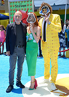 Patrick Stewart &amp; TJ Miller &amp; Kate Gorney at the world premiere for &quot;The Emoji Movie&quot; at the Regency Village Theatre, Westwood. Los Angeles, USA 23 July  2017<br /> Picture: Paul Smith/Featureflash/SilverHub 0208 004 5359 sales@silverhubmedia.com