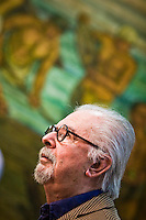 Colombian painter and sculptor Fernando Botero attends a press conference of his later work  VIACRUCIS, passion of the Christ  at the Museum of Antioquia in Medellín, Colombia. 01/04/2012. Photo by Fredy Amariles / VIEWpress.