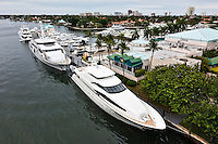 Some serious yachts in Fort Lauderdale, Florida.