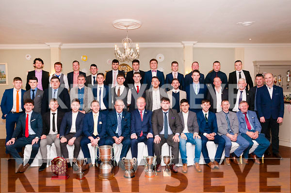 The Ballydonoghue Junior team  pictured at the club's annual Social in the Listowel Arms Hotel on Saturday night last.