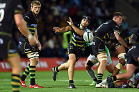 Cobus Reinach of Northampton Saints passes the ball. Gallagher Premiership match, between Northampton Saints and Harlequins on September 7, 2018 at Franklin's Gardens in Northampton, England. Photo by: Patrick Khachfe / JMP