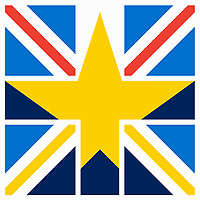 European Union star inside Union Jack flag ExclusiveImage ExclusiveArtist