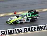 Jul 29, 2018; Sonoma, CA, USA; NHRA funny car driver Jonnie Lindberg during the Sonoma Nationals at Sonoma Raceway. Mandatory Credit: Mark J. Rebilas-USA TODAY Sports