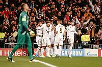 6th November 2019; Estadio Santiago Bernabeu, Madrid, Spain; UEFA Champions League Football, Real Madrid versus Galatasaray; Rodrygo (Real Madrid)  celebrates his goal which made it 1-0 in minute 4  - Editorial Use