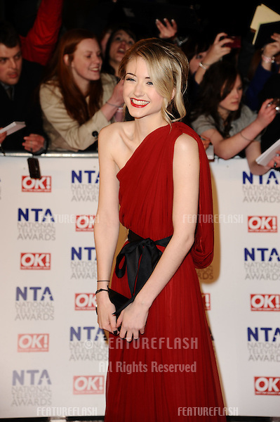 Ashley Slanina-Davies arriving for the National Television Awards 2011, at the O2, London. 26/01/2011  Picture By: Steve Vas / Featureflash