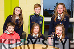 Pupils from Scoil Mhuire Knocknagoshel, Front l-r Matthew O'Connor, Amy Walsh  and Ruth Cahill. Back l-r  Emma Walsh, John Bill and Lucia Collins at the Primary schools science quiz  ITT South Campus on Thursday