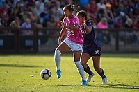 STANFORD, CA - OCTOBER 12: Madison Ayson #22 of the Stanford Cardinal during a game between the Stanford Cardinal and Washington Huskies women's soccer teams at Cagan Stadium on October 6, 2019 in Stanford, California. during a game between University of Washington and Stanford Soccer W at Laird Q. Cagan Stadium on October 12, 2019 in Stanford, California.