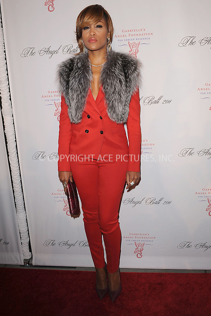 WWW.ACEPIXS.COM . . . . . .October 17, 2011...New York City....Eve attends the 2011 Angel Ball To Benefit Gabrielle's Angel Foundation at Cipriani Wall Street on October 17, 2011 in New York City.....Please byline: KRISTIN CALLAHAN - ACEPIXS.COM.. . . . . . ..Ace Pictures, Inc: ..tel: (212) 243 8787 or (646) 769 0430..e-mail: info@acepixs.com..web: http://www.acepixs.com .
