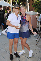 DELRAY BEACH, FL - NOVEMBER 03: Martina Navratilova and Maeve Quinlan attend the Chris Evert/Raymond James Pro-Celebrity Tennis Classic at the Delray Beach Tennis Center on November 3, 2017 in Delray Beach Florida. <br /> CAP/MPI04<br /> &copy;MPI04/Capital Pictures