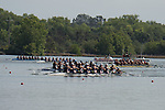 May 16, 2015; Gold River, CA, USA; I Eight race, Gonzaga Bulldogs, San Diego Toreros, Loyola Marymount Lions, Saint Mary's Gaels, Portland Pilots, Santa Clara Broncos, Creighton Blue Jays during the WCC Rowing Championships at Lake Natoma.