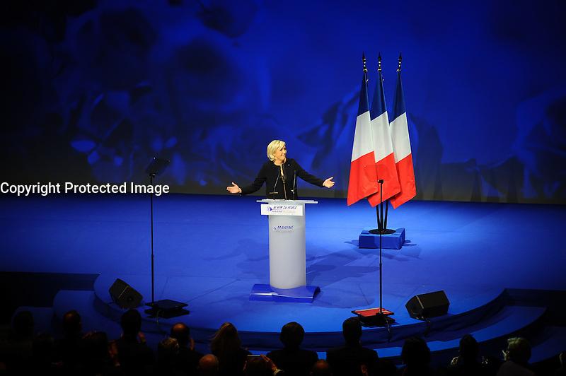 05 fÈvrier 2017, Palais des CongrËs, Lyon - Meeting de Marine Le Pen ‡ Lyon. # MEETING DE MARINE LE PEN A LYON