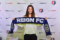 Los Angeles, CA - Thursday January 12, 2017: Arielle Ship during the 2017 NWSL College Draft at JW Marriott Hotel.