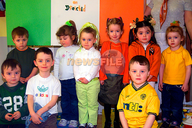 Jack Kavanagh,Scott Kellett,Aoifa O Brien,Nicola Tinsley,Shauna Kelly,Sophie Brannigan,Ryan Levims,Luke Toohey,and Cheryl Hoey at Irish Preschool in the Prefabs in Ballsgrove...Pic Tony Campbell/Newsfile
