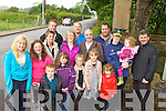 PATHWAY: Residents of Ballyoughtra Heights, Milltown pictured with Cllr Michael O'Shea (right) welcoming the announcement of the provision of a new footpath from Ballyoughtra to the town centre.
