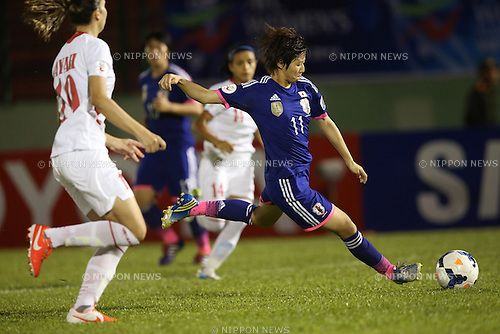 Chinatsu Kira (JPN), MAY 18, 2014 - Football / Soccer : 2014 AFC Women's Asian Cup Group A match between Japan 7-0 Jordan at Go Dau Stadium in Thu Dau Mot, Vietnam. (Photo by Takahisa Hirano/AFLO)