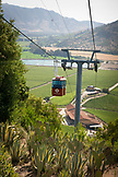 CHILE, Colchagua Valley, Gondola at Santa Cruz Vineyard