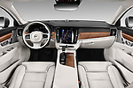 Stock photo of straight dashboard view of a 2018 Volvo S90 T6 Inscription 4 Door Sedan