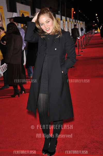 "Erica Christensen at the world premiere of ""When in Rome"" at the El Capitan Theatre, Hollywood..January 27, 2010  Los Angeles, CA.Picture: Paul Smith / Featureflash"