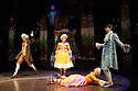 London, UK. 05.12.2012. CINDERELLA THE MIDNIGHT PRINCESS opens at the Rose Theatre, Kingston. Picture shows: William Postlethwaite (Wolfgang), Laura Prior (Constanza), Jack Monaghan (Prince Sebastian), Jenny Bede (Aloysia).      Photo credit: Jane Hobson.