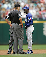 Texas Rangers  Manager Ron Washington against the Seattle Mariners on May 14th, 2008 at Texas Rangers Ball Park in Arlington, Texas. Photo by Andrew Woolley .