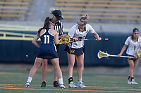 BERKELEY, CA - April 14, 2017: Cal Bears Women's Lacrosse vs. UC Davis Aggies at California Memorial Stadium.  Final Score: Cal Bears 15, UC Davis Aggies 12