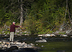 Flyfishing on Kelly Creek, near Pierce, Idaho, on Tuesday, Sept. 13, 2016. <br />