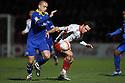 Chris Beardsley of Stevenage battles with Scott Cuthbert of Leyton Orient.- Stevenage v Leyton Orient- npower League 1 - Lamex Stadium, Stevenage - 2nd January 2012  .© Kevin Coleman 2012