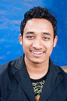 Kathmandu, Nepal.  Young Nepalese Man of the Newari Ethnic Group.